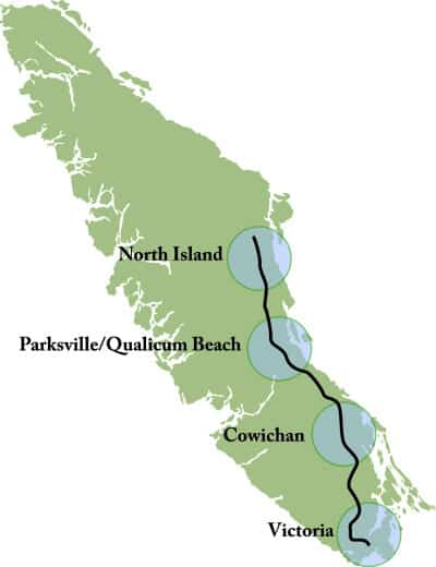 Vancouver Island Golf Regions