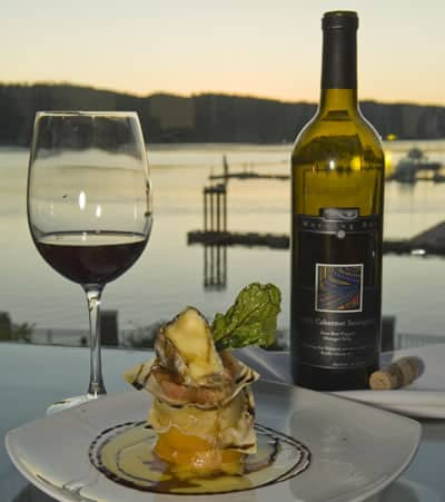 Vancouver Island Wineries - Wine at Sunset