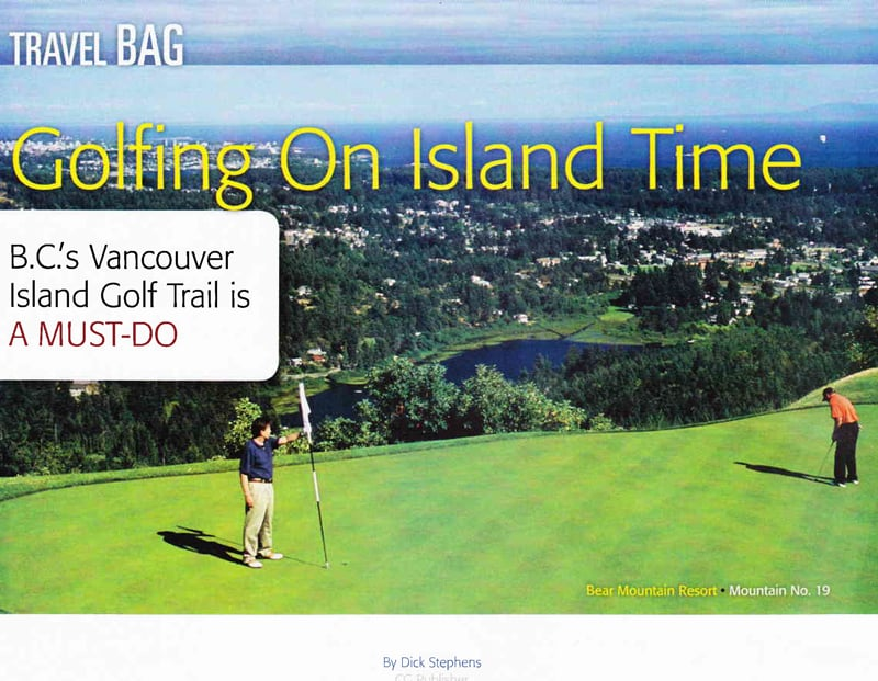 Cascade Golfer - Golfing on Island Time