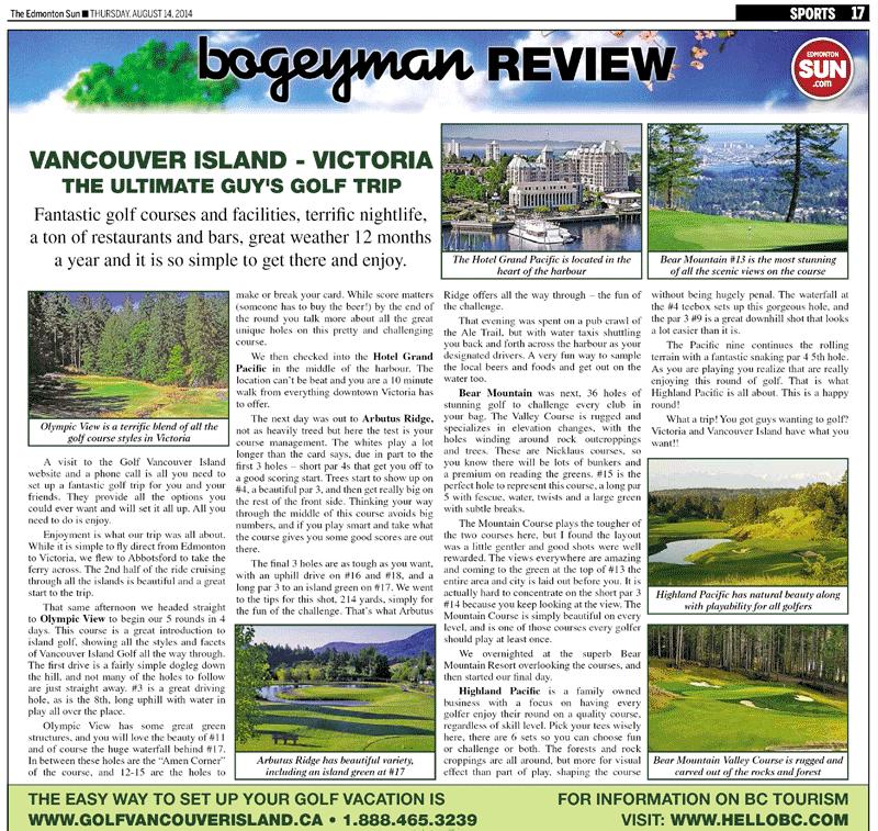 Edmonton Sun's – Bogeyman Review