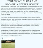 I Threw My Clubs & Became A Better Golfer