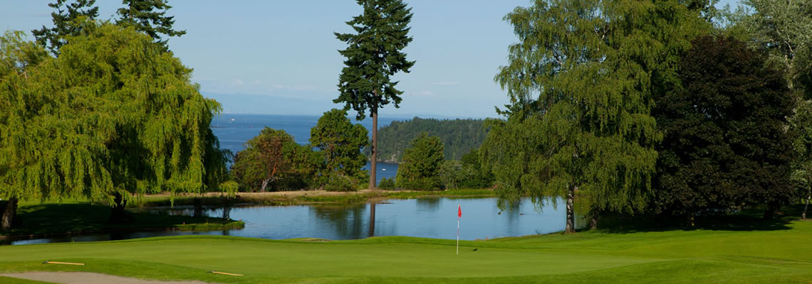 Nanaimo Golf Club 18th green
