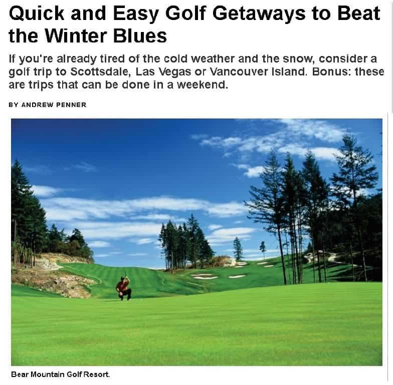 Golf Getaways to Beat the Winter Blues