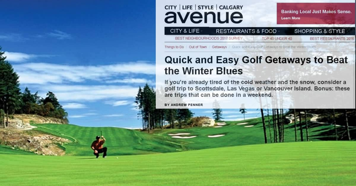 Quick and Easy Golf Getaways to Beat Winter Blues