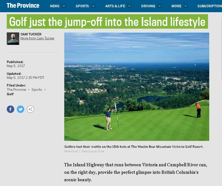 Golf Just the Jump-Off Into the Island Lifestyle
