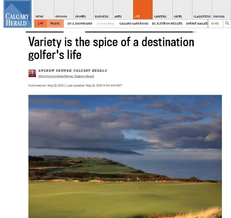 Variety is the Spice of a Destination Golfer's Life