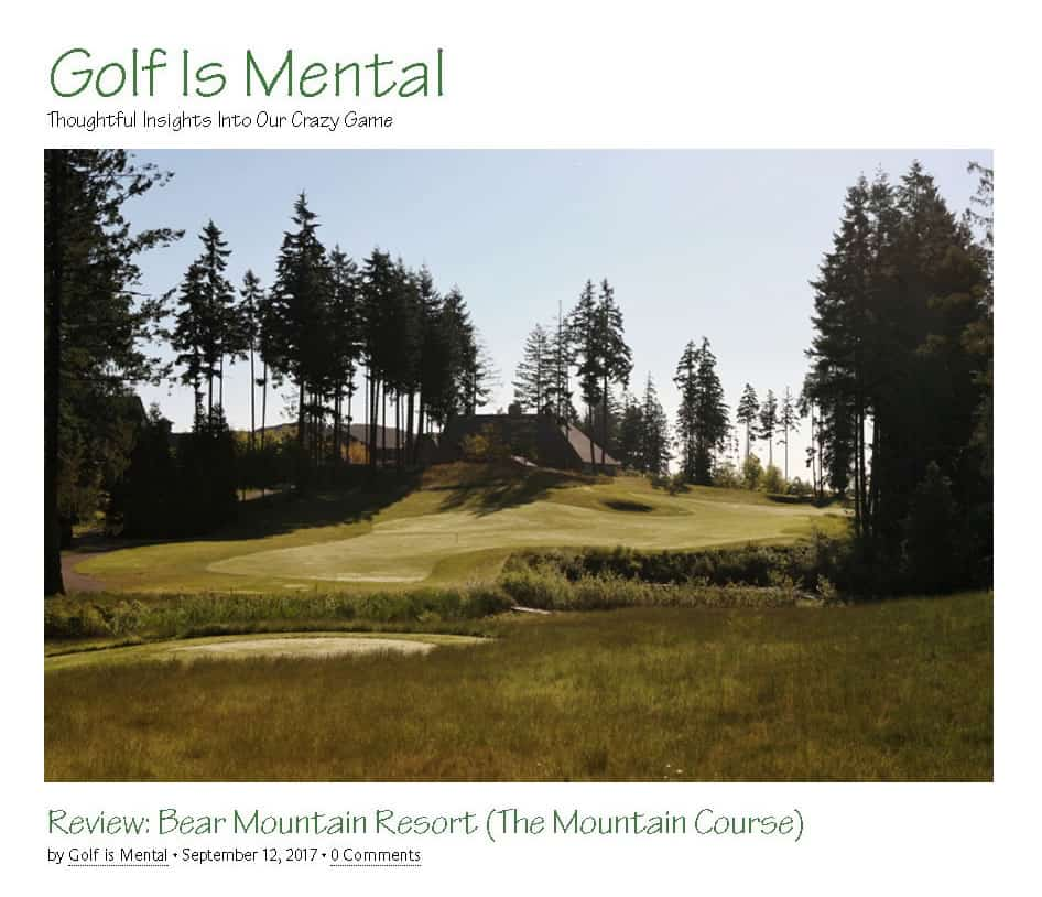 Golf is Mental Review: Bear Mountain Mountain Course