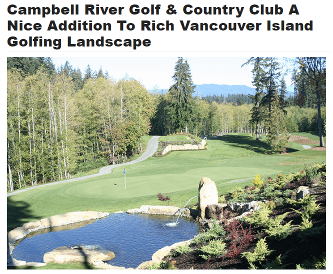 Campbell River Golf & Country Club – BC's Newest Course!