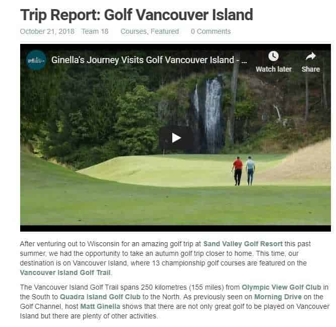 18 Under Par takes a trip down the Vancouver Island Golf Trail