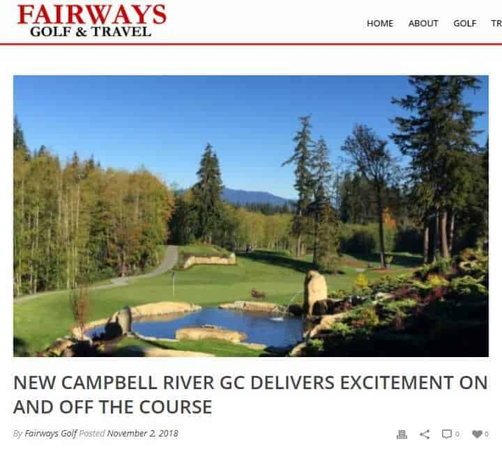 Fairways Golf & Travel Magazine visits Campbell River Golf & Country Club