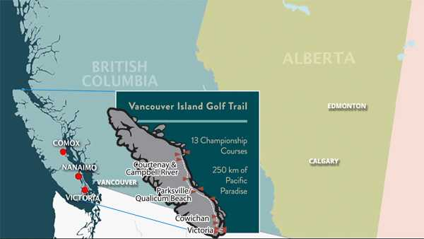 BC Golf Courses Map