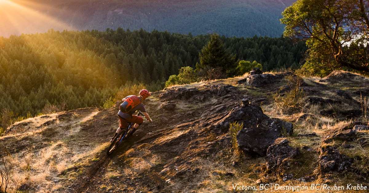 Mountain biking near golf courses in Victoria BC