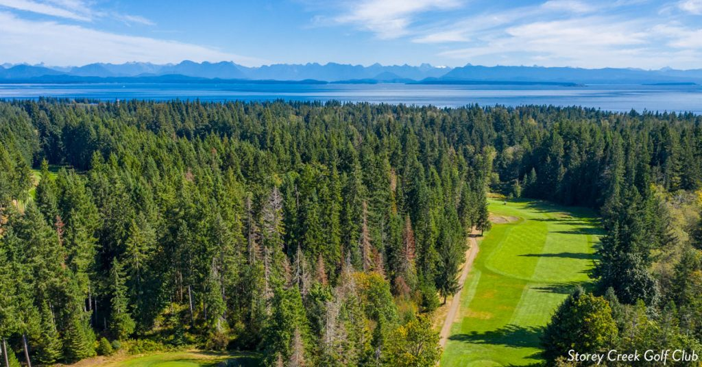 Arial shot of Story Creek golf course.