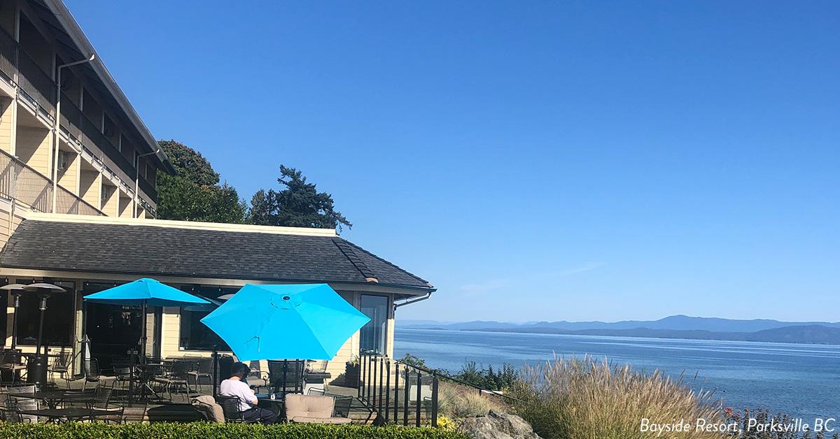 Ocean front Bayside Resort.