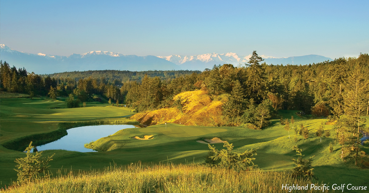 Majestic mountain range at Highland Pacific.